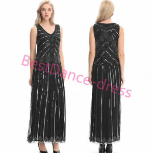 Details about 1920s Flapper Dress Gatsby 20s Roaring Charleston Fringe  Party Dresses Plus Size