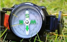 Marching Lensatic Compass Light Military Camping Hiking Army Survival Metal