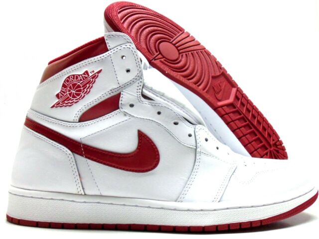 6543b22ccf1 Nike Air Jordan 1 Retro High OG White Varsity Metallic Red 555088-103 9