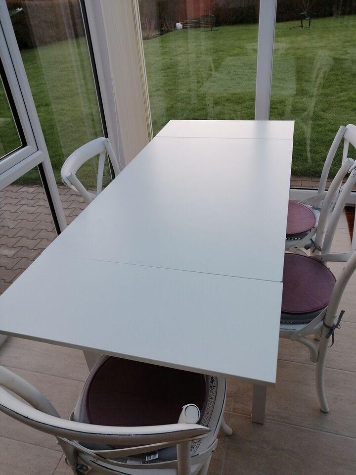 Spisebord m/stole, Træ, b: 79 l: 119