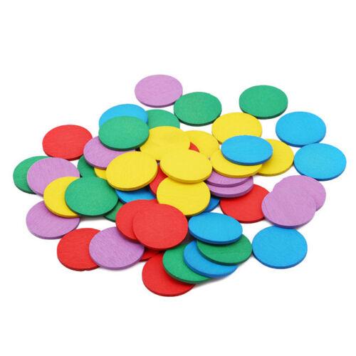 Children Kids Math Geometric Colorful Wooden Montessori Educational Toys LD