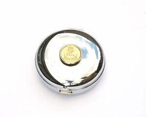Royal Navy Gilt Travel Chrome Alarm Clock Ideal Army Gift BK49