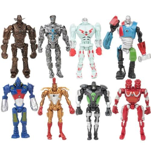 Real Steel 8PCS PVC Movie Action Figure Robot Toys Zeus Atom Midas Noisey Boy