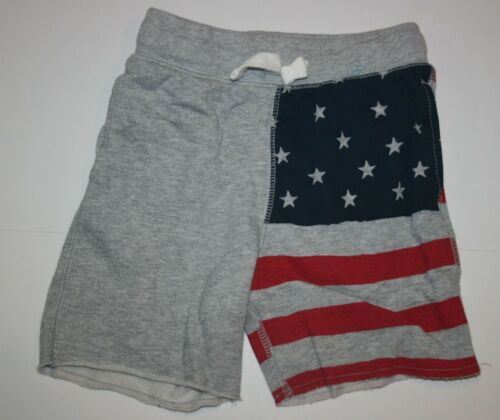 New OshKosh Boys 2T year Shorts USA Flag July 4th Knit Cotton Pull On Summer