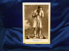 HARRY HOUDINI Magician Escape Artist Cabinet Card Photograph Vintage History CDV