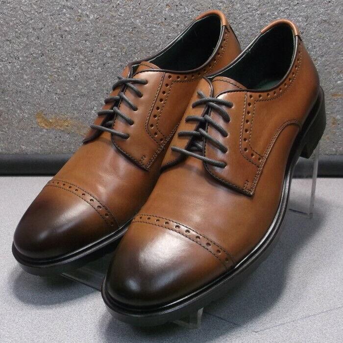 271536 ES50 Chaussures Hommes Taille 12 M Dark Tan en cuir à lacets Johnston & Murphy