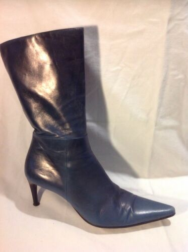 Size 38 Leather Mid Grey Quelle Calf Boots 4xvXqY8wT