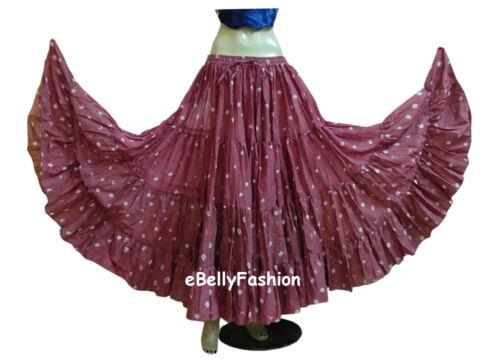 Cotton JAIPUR Tribal 25 Yard 4Tier Gypsy Skirt Belly Dance  Tie /& Dye Polka Dot