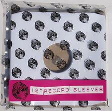 """Pack of 50 x 12"""" inch Vinyl Record Album LP White Paper Inner Sleeves"""