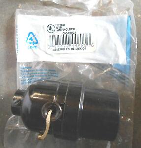 97092 phenolic shell lampholder pull cord nylon black o 7 ebay. Black Bedroom Furniture Sets. Home Design Ideas