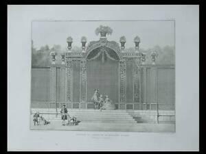 PARIS-GARDEN-OF-THE-BOSSIERE-1911-HELIOGRAVURE-ARCHITECTURE-FRANCE