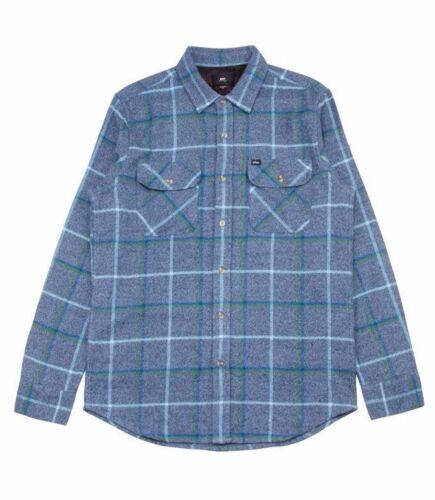 Obey PEAK WOVEN Blue Multi Plaid Button Down Double Chest Pocket Men/'s Shirt