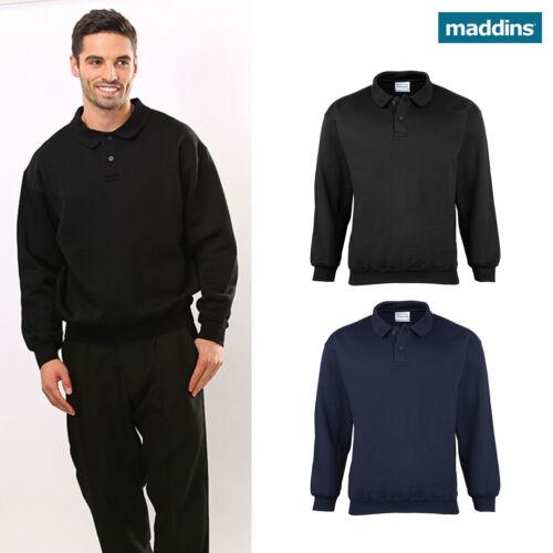 MADDINS coloursure Polo Sweat Pull-over Sweat Chaud Workwear MD20M