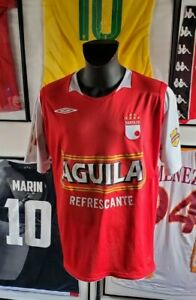 Maillot-jersey-shirt-camiseta-colombia-colombie-independiente-santa-fe-XL-2009