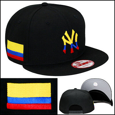New Era New York Yankees Snapback Hat Cap Colombia Colombian Flag wbc