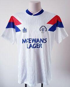 Rangers 1990 - 1992 Away football Admiral shirt size 42/44 | eBay