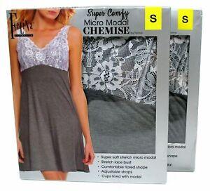 Micro Modal Chemise Adjustable Felina Loungewear Sleepwear Lace