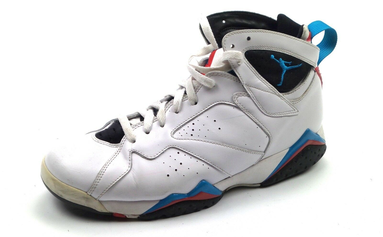 Nike Air Jordan 7 Retro Orion White blueee Black Infrared 304775-105 Sz 10