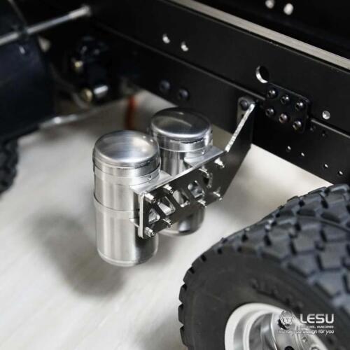 LESU Metal CNC Air Tank for 1//14 RC DIY Tamiya Benz 3348 Dumper Tractor Truck