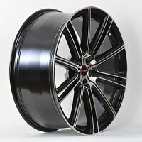 4 Gwg Wheels 17 Inch Black Machined Flow Rims Fits 5x108 Ford Transit Van