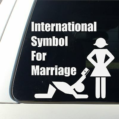International Symbol For Marriage Car Decal funny bumper sticker money all seein