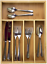 Bambo-Cutlery-Organizer-Kitchen-Drawer-Tray-5-Compartments-Flatware-Storage-Home thumbnail 1