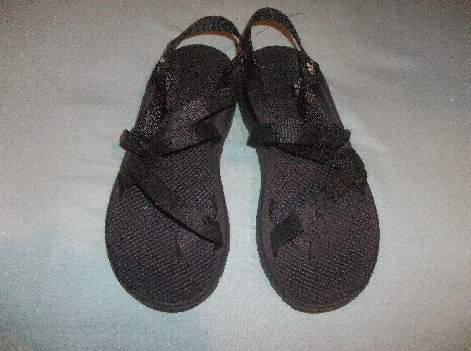 Chaco Sandals Original Toe Strap River Rafting Hiking Vibram Lug Sole USA Black