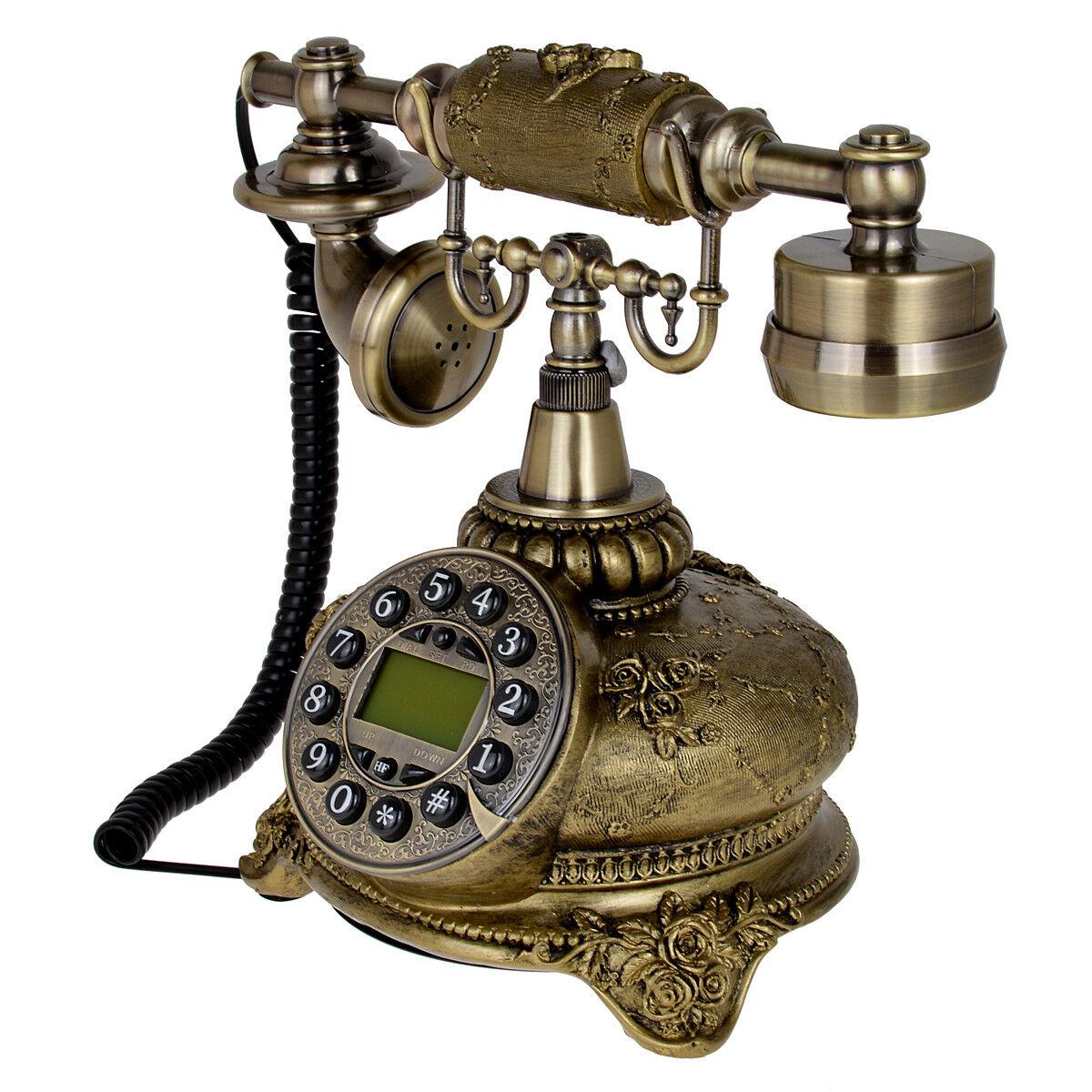 108b Bronze Retro Vintage Ceramic Antique Telephone Push On Dial Desk Phone