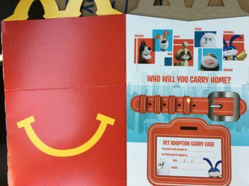 Mcdonalds Kids Meal Happy Meal Secret Life of Pets 2 Box Carton