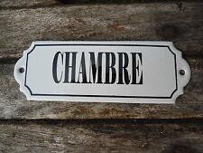 PLAQUE DE PORTE EMAILLEE CHAMBRE EMAIL VERITABLE 800°C NEUVE FABRIQUEE EN FRANCE