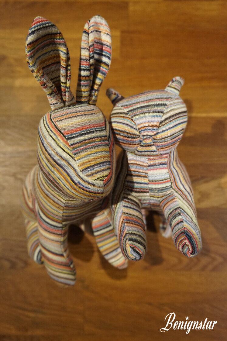 MUJI MUJI MUJI negozio riutilizzati filato CONIGLIO GATTO cotone riciclato Soft Toys 3f911f