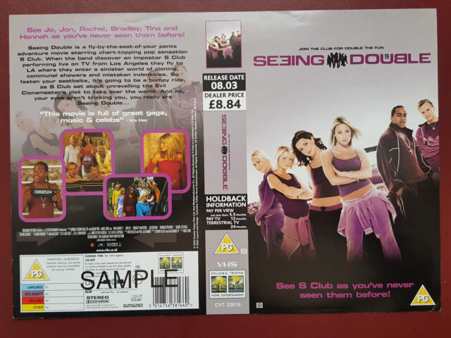 Seeing Double - S Club 7 - Promo Sample Video Sleeve/Cover #B3012