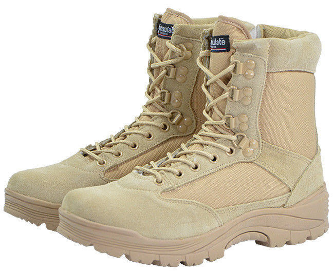 Mil-Tec 9 Hole Lacing ONE YKK ZIP Tactical Military Security Boots Khaki