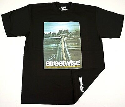 STREETWISE STREET ANGELS T-shirt Urban Streetwear Tee Adult Men Black NWT