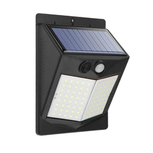 Solar LED Wall Light PIR Motion Sensor 3 Modes Outdoor Garden Yard Security Lamp