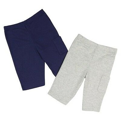 Gerber® Newborn Boys' 2 Pack Pant - Blue/Grey