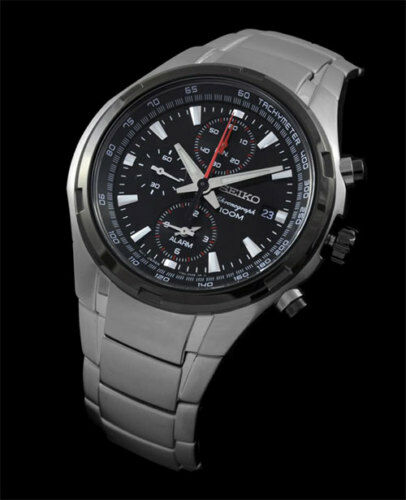 Seiko SNAE43 SNAE43P1 Alarm Mens Chronograph Watch WR100m NEW RRP $595.00