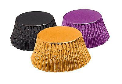 Fox Run Baking Cups Orange Black Purple Foil Stand. Muffin Cupcake Liners 90 ct
