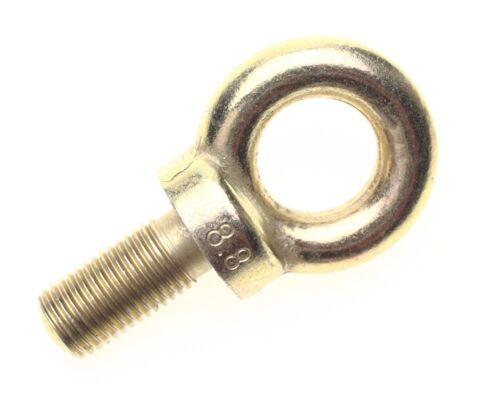 """1/"""" longueur de fil 6 x srt 7//16/"""" unf harnais boulon à oeil 25mm seatbelt boulon à oeil"""