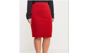 Samoon by Gerry Weber Red Knit Skirt Size LF181 KK 04