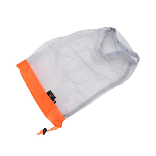 5 Size Tavel Camping Sports Ultralight Mesh Stuff Sack Drawstring Bag BackpackTY