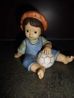 Goebel Nina & Marco Limpke Junge mit Fussball Sammelfigur