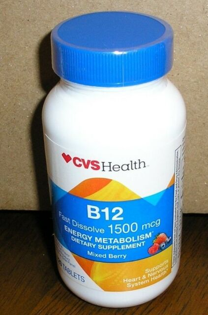 Best B12 Supplement 2020 CVS Vitamin B12 Fast Dissolve 1500 Mcg 120 Tablets   Exp May 18