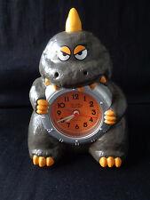 Godzilla Kaiju Rotating Alarm Clock Made In Japan Works