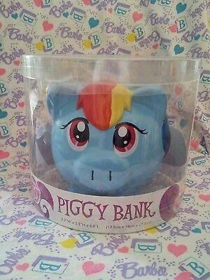 "My Little Pony Friendship is Magic Ceramic RAINBOW DASH 7"" Coin Piggy Bank"