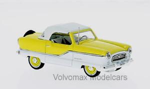 Maravilloso MODELCAR MODELCAR MODELCAR Nash Metropolitan Converdeible 1959-Amarillo blancoo - 1 43 291cc7