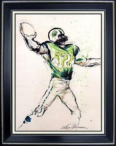 LEROY-NEIMAN-Original-PAINTING-Gouache-Signed-JOE-NAMATH-Super-Bowl-Sports-oil