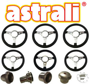"Astrali® 13""/14"" Leather,Vinyl,Alacantra Steering Wheels MGA,MGB,Jaguar&Triumph"