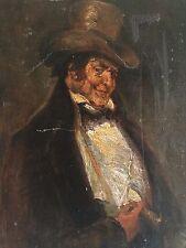 Ancien tableau,HST,signé,Notable,homme de qualité,cigare,belle-époque,déb XXème