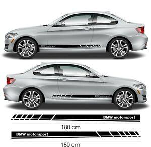 BMW-Stickers-bas-de-caisse-Motorsport-Autocollant-pour-BMW-serie-1-3-5-7
